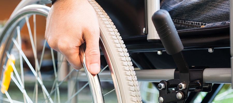 Disability insurance benefits: wheelchair